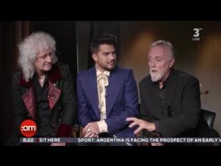 Queen + Adam Lambert - interview, Ireland AM, Channel TV3, 30.05.2018
