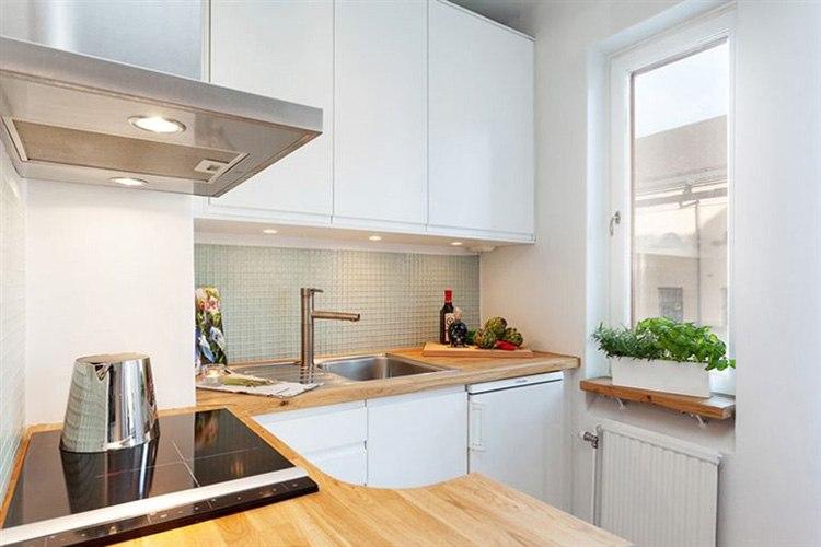 Современная квартира-студия 27 м в Стокгольме / Швеция.