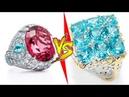 Red Ruby Rings VS Blue Diamond Rings