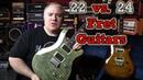 22 vs. 24 Fret Guitars - Mystery Solved - Using PRS SE Custom 22 / 24