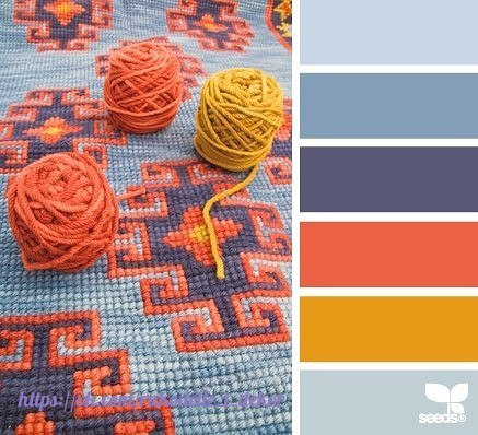 С каким цветом сочетается бежевый цвет при вязании 11