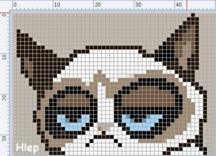 Схемы фенечек прямого плетения коты
