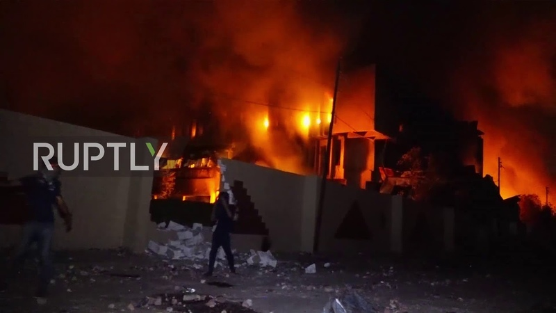 Iraq: Protesters torch govt. buildings in Basra