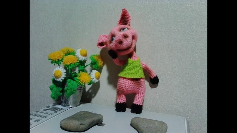 Прикольный Хрюша, ч.2. Cool Piggy, р.2. Amigurumi. Crochet. Амигуруми. Игрушки крючком.