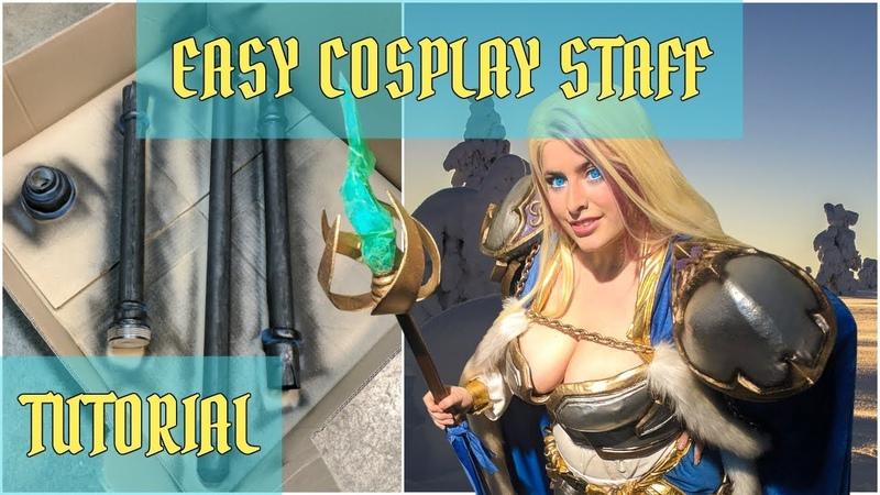 How To Make a Cosplay STAFF - Easy, Lightweight, and Detachable