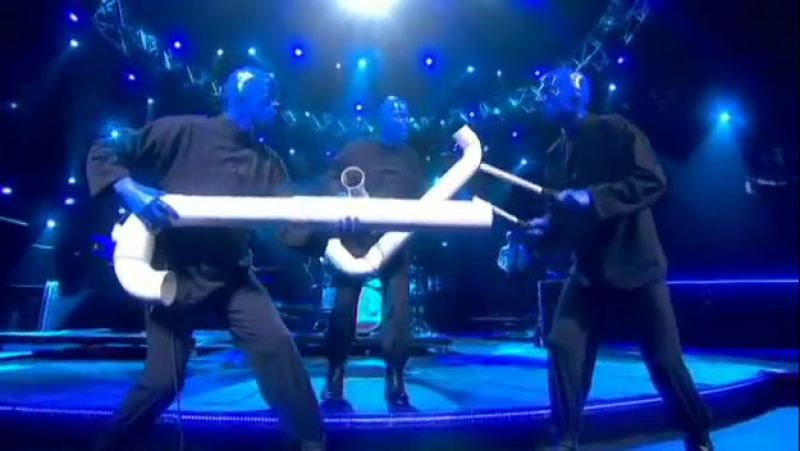 Blue Man Group - Drumbone (Melodifestivalen 2010 Sweden)