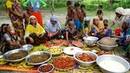 Huge Traditional Food Arrangement For Ramadan Iftar - Ramadan Evening Snacks Prepared For Villagers