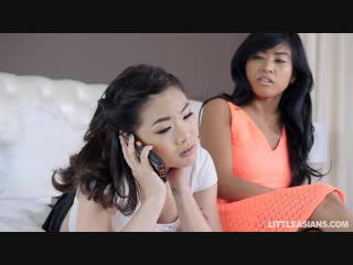 Kaya lin and ember snow - showing her the gropes [all sex, hardcore, blowjob, threesome, asian]