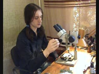 Настройка стереоскопического микроскопа