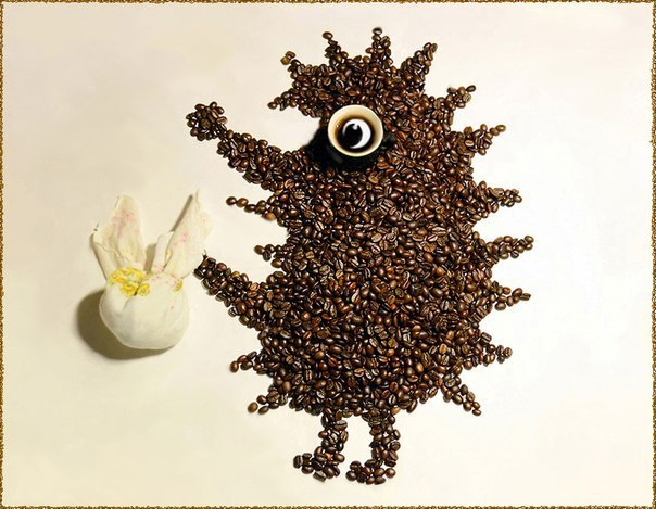 Кофейная фантазия. (9 фото) - картинка