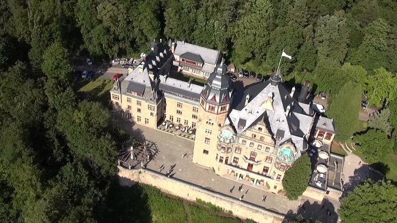 Schlosshotel Wolfsbrunnen aerial footage