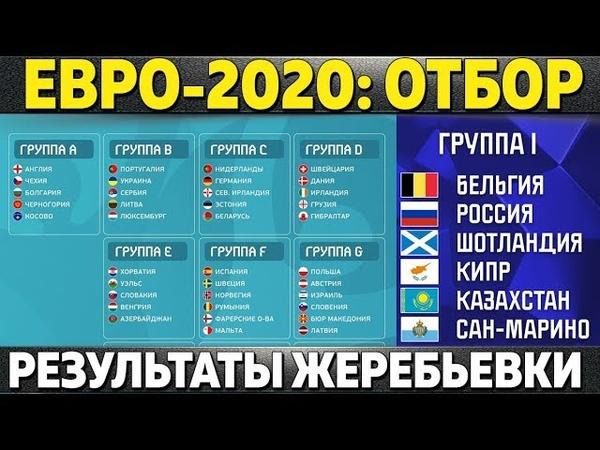 РЕЗУЛЬТАТЫ ЖЕРЕБЬЕВКИ ЧЕМПИОНАТА ЕВРОПЫ-2020! ГРУППА РОССИ В ОТБОРЕ ЕВРО-2020