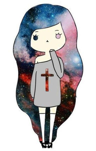 фото космос девушки