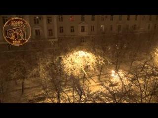 Большой снегопад в городе Воронеж