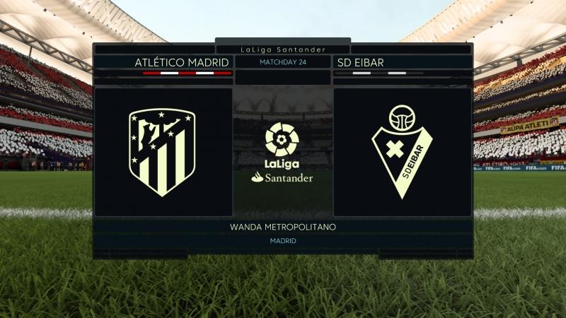 La Liga. Atletico Madrid-SD Eibar