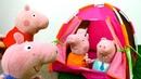 Peppa Pig Português Brasil. O acampamento. Vídeos de brinquedos.