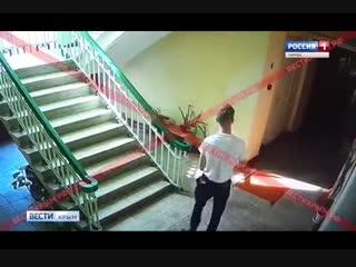 Опубликовано видео момента нападения на керченский колледж