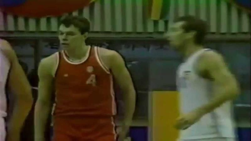 Alexander Volkov Crazy Block ● USSR 76:63 Yugoslavia ● Olympics Seoul 1988