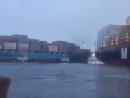 Столкновение между m v Laura Maersk и m v MSC Shuba B в порту Callao APM сегодня