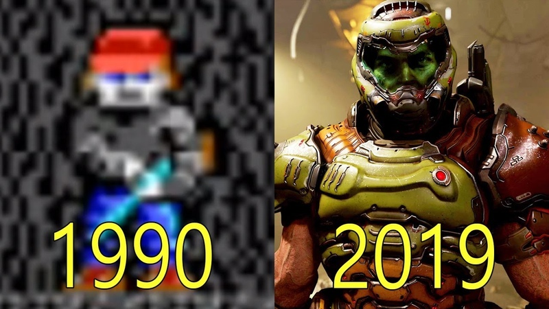 Evolution of id Software games 1990-2019