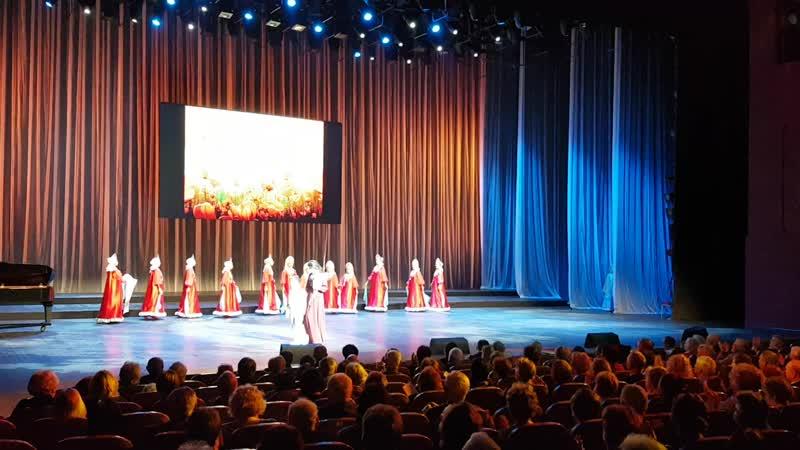 Выступление в Центральном академическом театре Российской армии 16 октября 2018,танец Хоровод