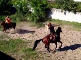 тренировка - поединок конных лучников