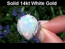Certified Welo Mined Ethiopian Opal VS Diamond Ring Set In Solid 14K Gold up For Immediate Auction