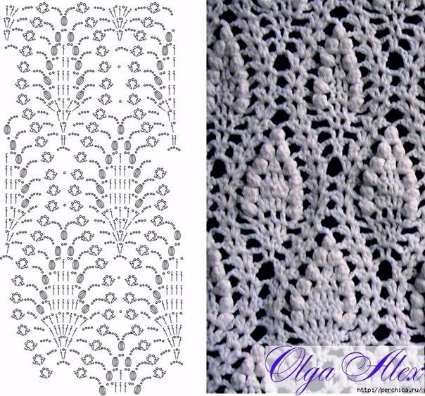 Punto piña crochet patron - Imagui