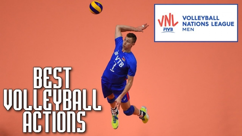 Best Volleyball Actions by Dmitry Volkov. VNL 2018 Volleyball.