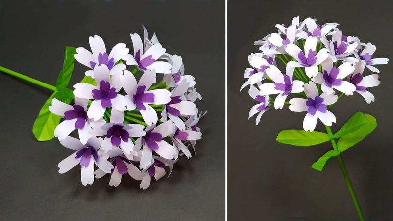 Beautiful Paper Craft Ideas DIY Handcraft Stick Flower Making Tutorial Jarine's Crafty Creation