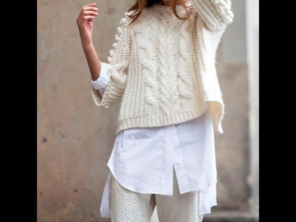 Укороченный Пуловер Спицами - 2019 Cropped Pullover Knitting Needles