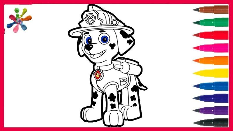 PAW Patrol Coloring for kids Marshall Раскраски для детей Щенячий патруль