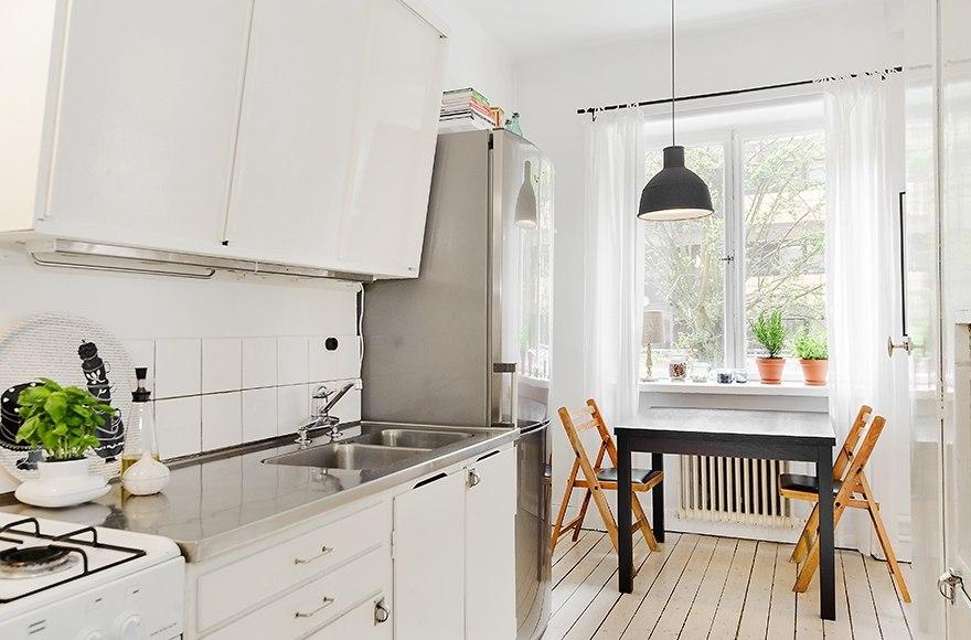 Интерьер квартиры 43 м в Швеции.
