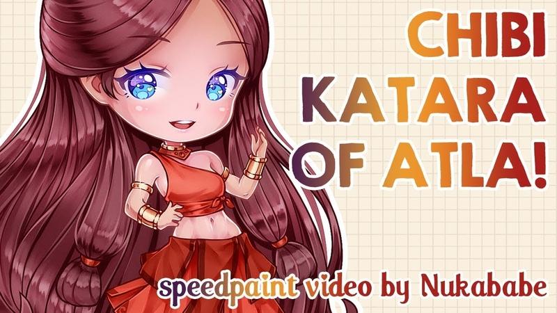 Chibi Katara of Avatar: The Last Airbender | Speedpaint by Nukababe