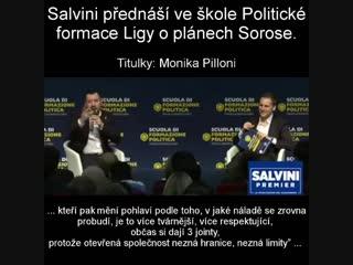 Salviniho přednáška ve Škole politické formace, kterou vede Liga_ Soros veřej