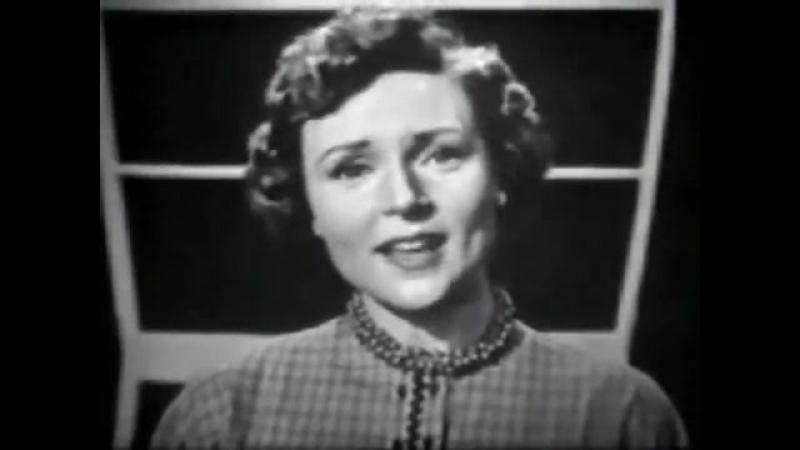 1954 Clip of a young Betty White singing Nevertheless (I am in Love with You)