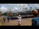 Launching kapal Perintis sabuk nusantara 57 Di PT Dumas tanjung Perak Shipyard S