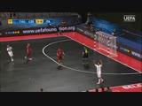 Enjoy Patias deft back-heel goal
