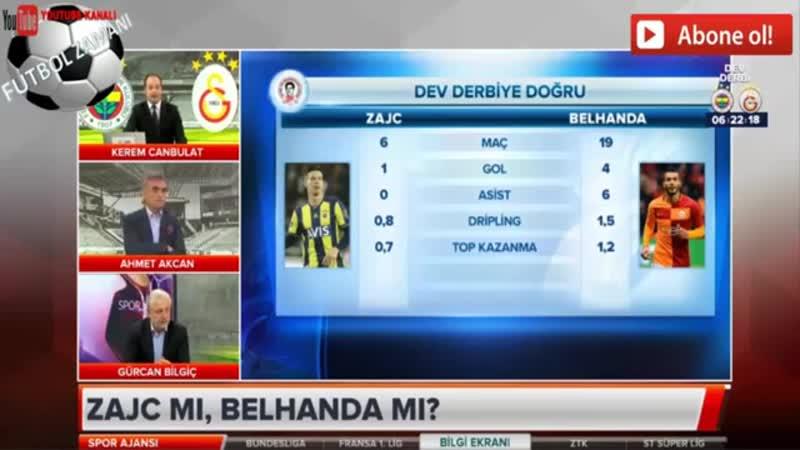 Fenerbahçe - Galatasaray Maç Öncesi Futbolcu Karşılaştırmaları