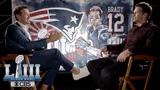 Tom Brady sits down with Tony Romo Super Bowl LIII