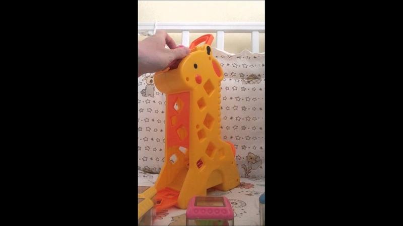 Fisher price.жираф с кубиками .обзор
