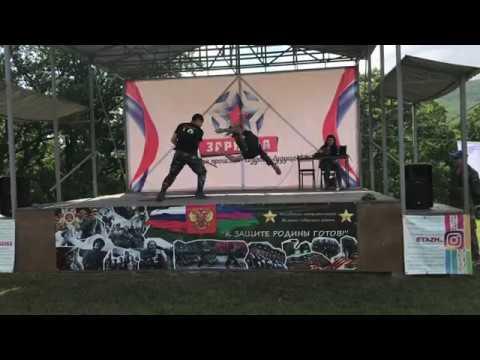 Показательные выступления клуба Акайкан на краевой военно-спортивной игре Зарница-2018, 21 мая