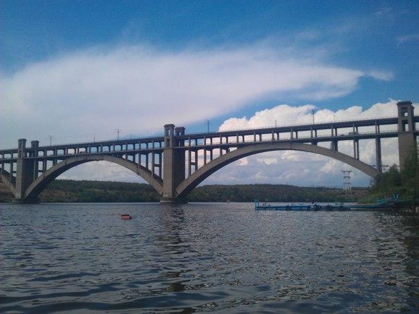 Мост Преображенского город Запорожье