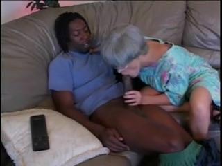 Tatooed Gray Hair Mature seduced by Big Black Cock