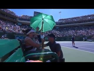 Кербер А.  Андреску Б  Теннис. WTA Тур Обзор матча (17 марта 2019 в 23:15) Bianca Andreescu v Angelique Kerber
