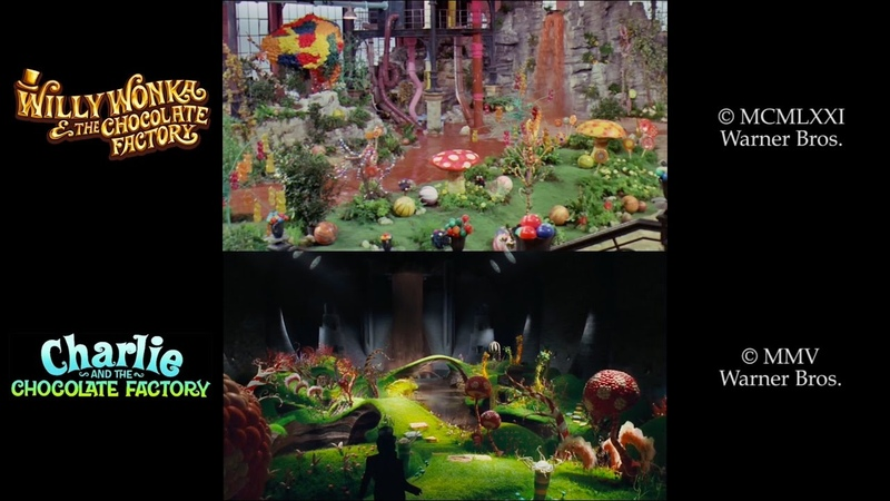 Willy Wonka/Charlie and the Chocolate Factory (1971/2005) Side-By-Side Comparison