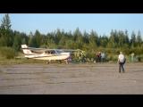 взлет самолета Cessna 177 Cardinal reg. № RA-2364G (Боровичи, аэродром