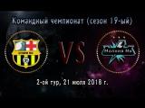 Чемпионат (19-ый сезон), 2-ой тур 21.07.18.