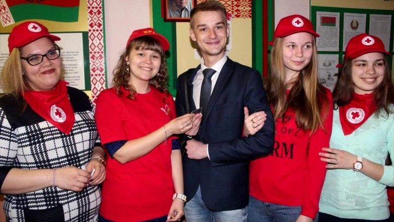 Антон Воднев в педагогической профессии (школа N10 г. Мозыря)