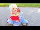 Куклы Пупсики В МАГАЗИН ЗА МОРОЖЕНЫМ Мопед Беби Бон Игрушка Мультик Для детей